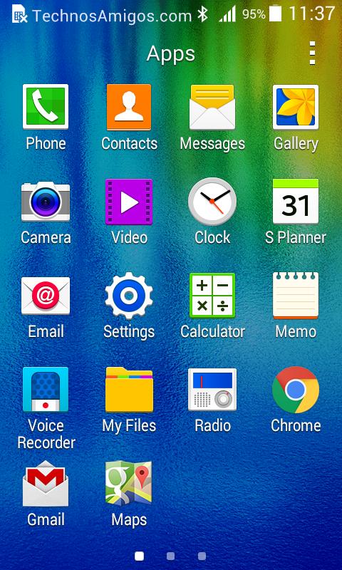 Galaxy J1 UI