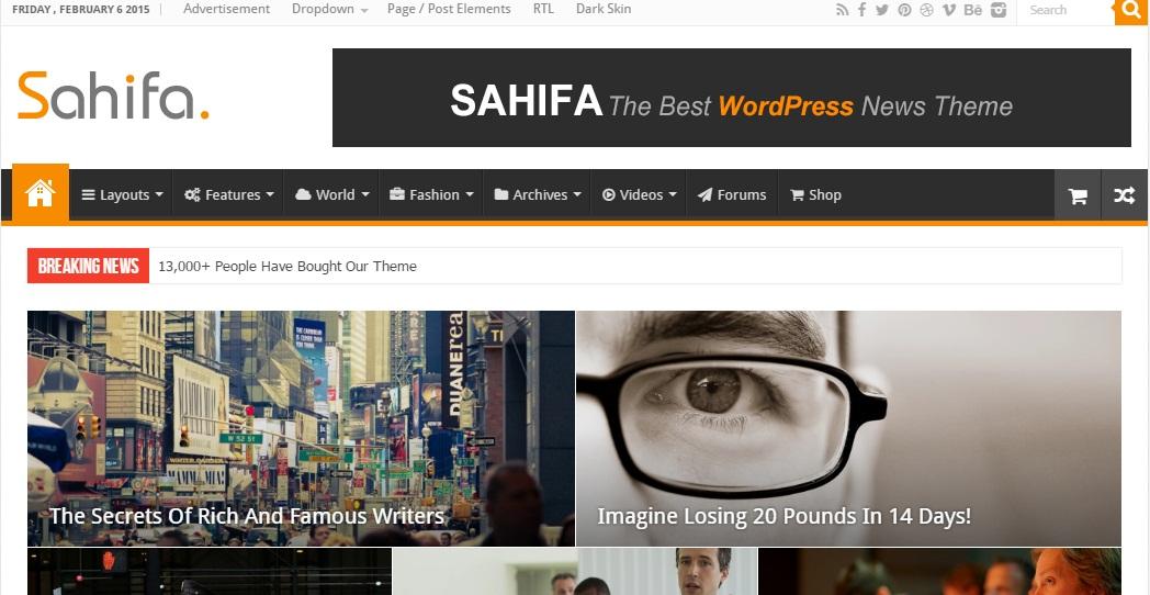 Sahifa v5.0.0 Theme