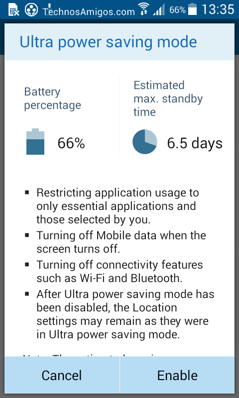 Samsung Ultra Power Saving Mode