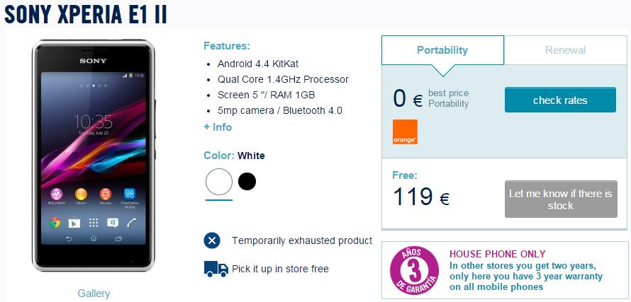 Sony Xperia E1 II
