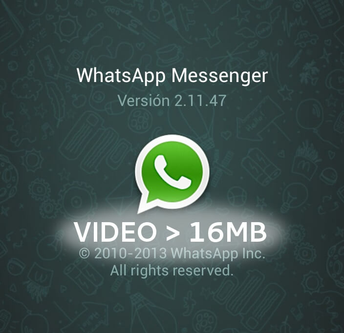 Send Large Size Videos on WhatsApp