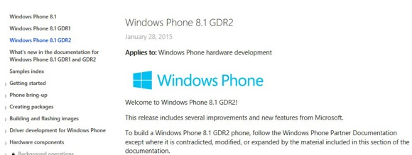 Windows Phone 8.1 GDR2 Update