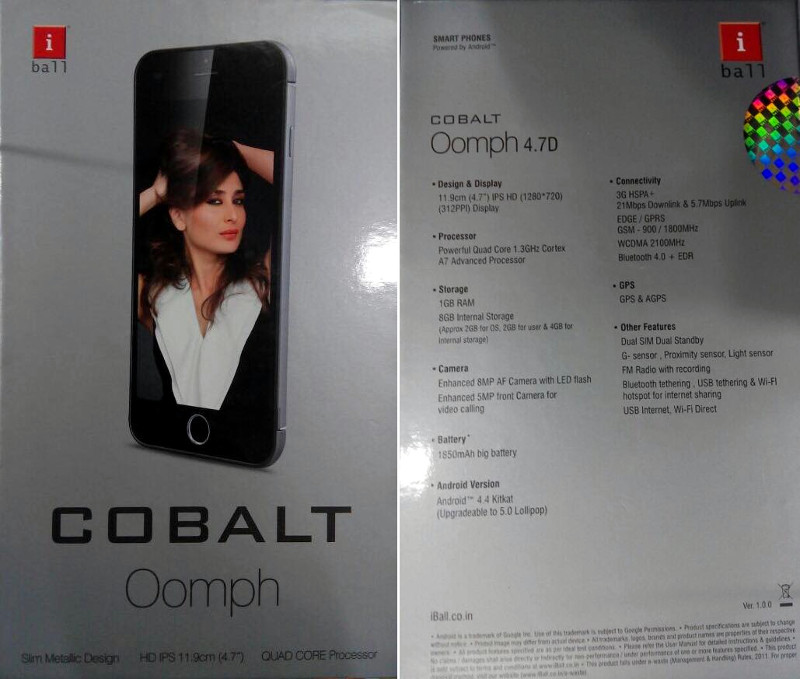 iBall Cobalt Oomph 4.7D