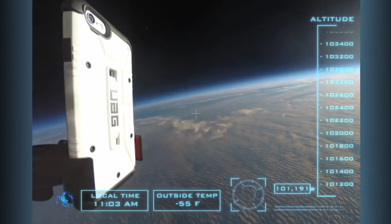 iPhone 6 Drop Test From Space