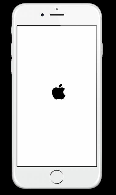 iPhone strucked on Apple logo