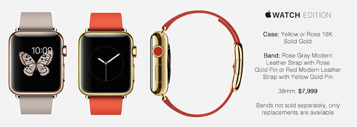Apple Watch 18K Solid Gold