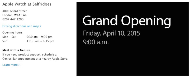 Apple Watch Shop Opening