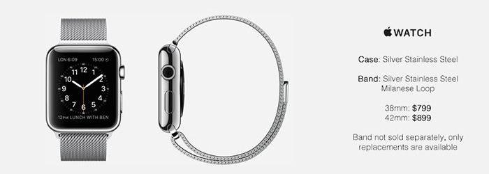 Apple Watch Silver Stainless Steel