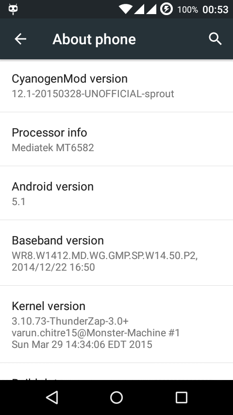 Cyanogenmod 12.1 Android One