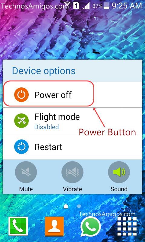 Galaxy Power button