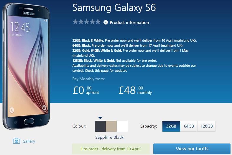 Samsung Galaxy S6 O2