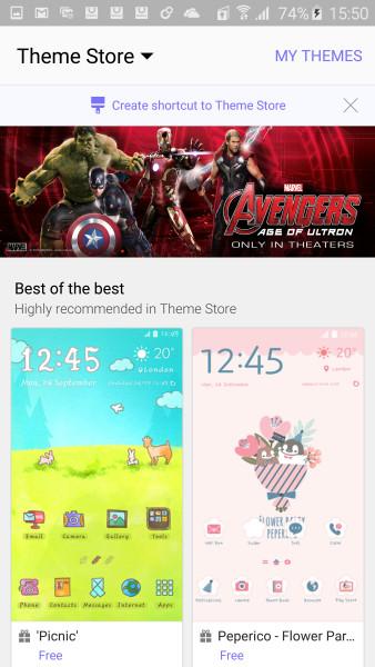 Galaxy S6 Theme Store