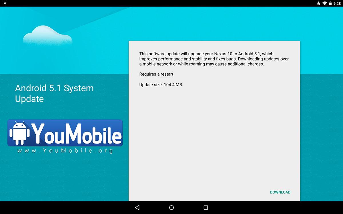 Nexus 10 Android 5.1