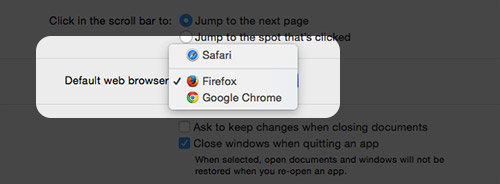 Selecting default browser