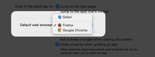 Selecting default browser