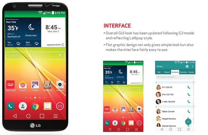 Verizon LG G2 Lollipop update
