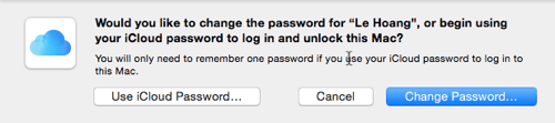 Mac Change Password
