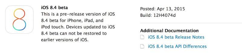 iOS 8.4 Beta
