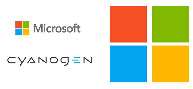Microsoft Cyanogen logo