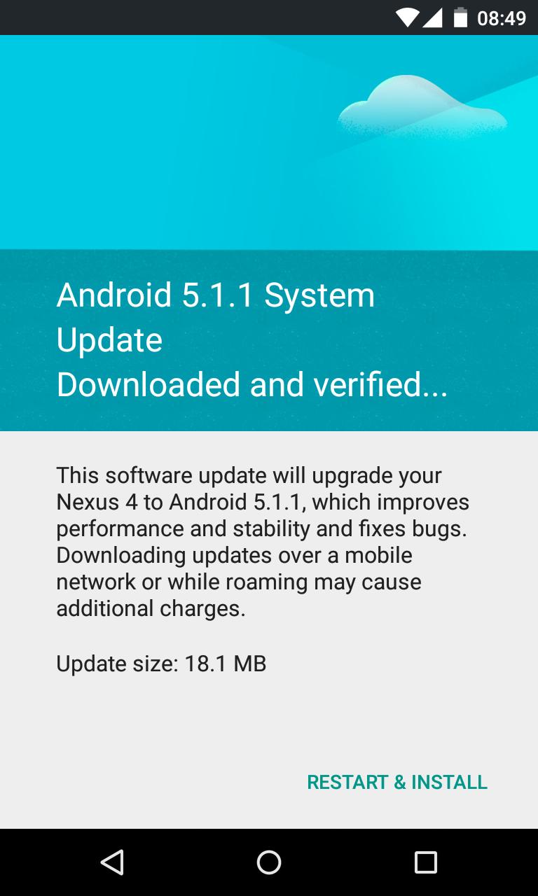 Nexus 4 Android 5.1.1
