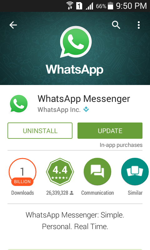WhatsApp Material Design Update