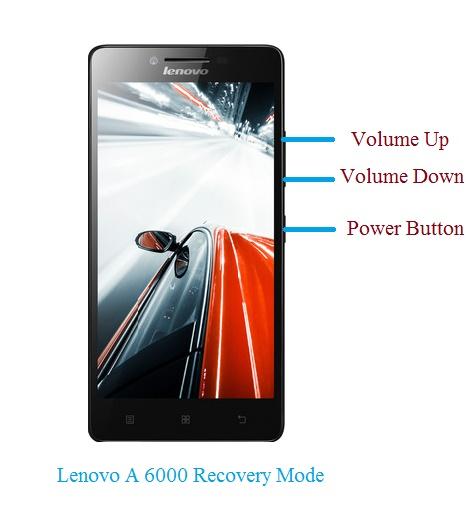 lenovo A6000 recovery mode
