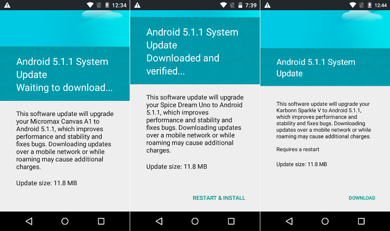 Android One 5.1.1 Update
