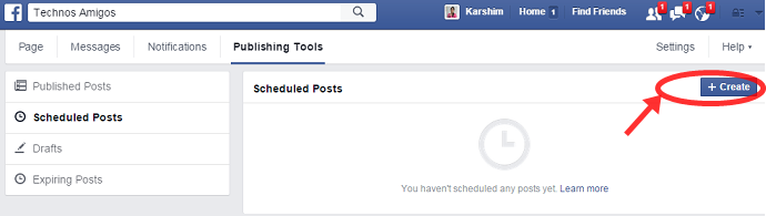 Create Facebook Schedule Post
