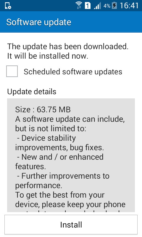 Galaxy J1 Software Update