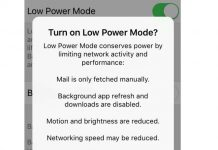 Apple iPhone Low Power Mode