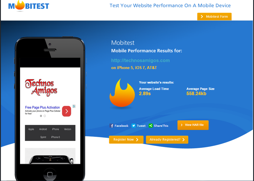 Test Mobile Performance