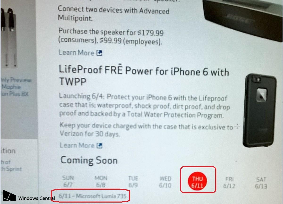 Verizon Lumia 735