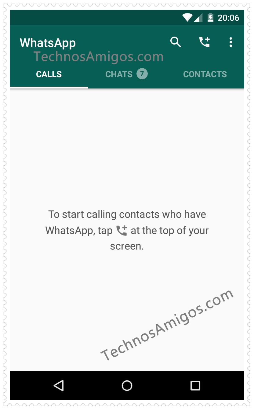 WhatsApp Call History