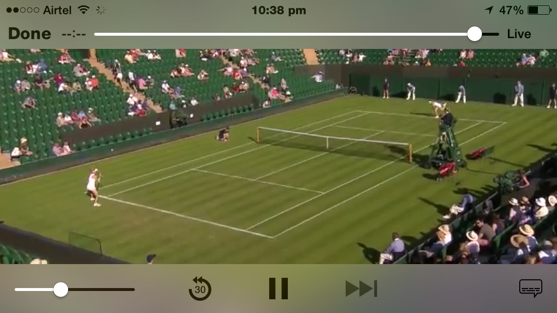 Wimbledon Live Streaming on iPhone