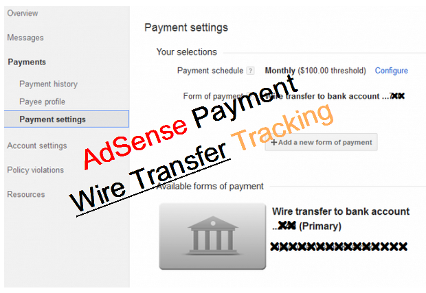 Wire Transfer Adsense Tracking