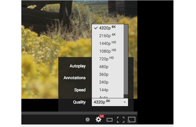 YouTube 8K