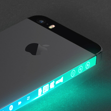 iPhone with OLED display