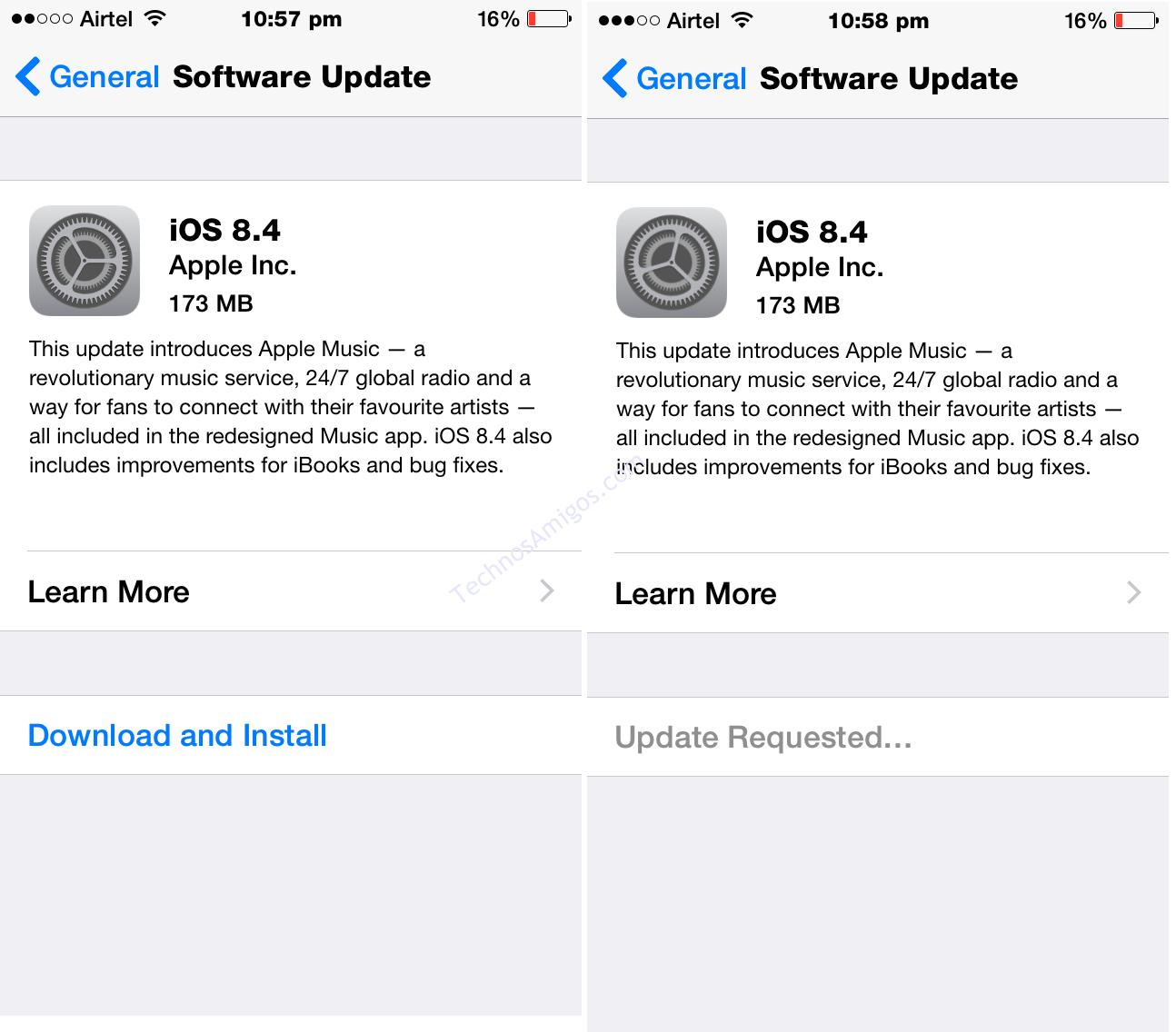 iPhone iOS 8.4 update