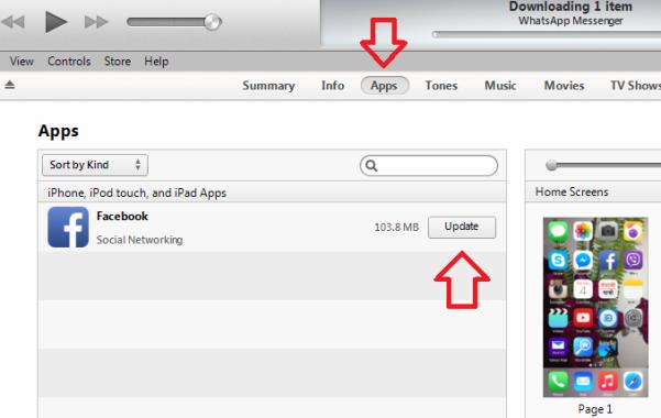 iTunes App Updates