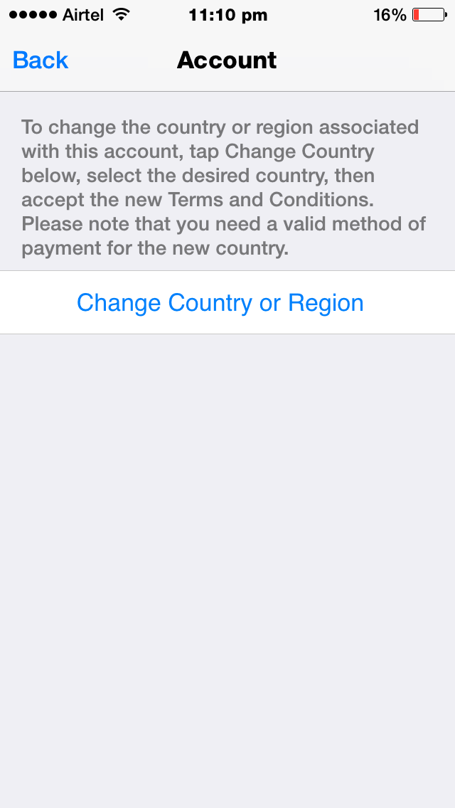 Apple Settings Change Country