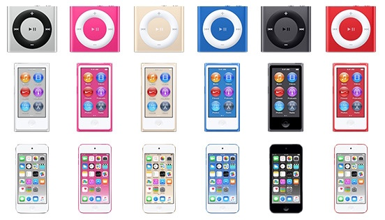 Apple iPod Nano Colors