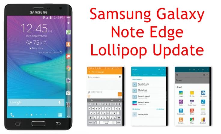 Samsung Galaxy Note Edge Lollipop Update