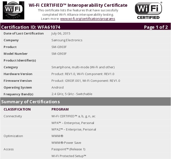 Galaxy S5 Neo WiFi