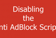 How to Disable Anti AdBlock Scripts