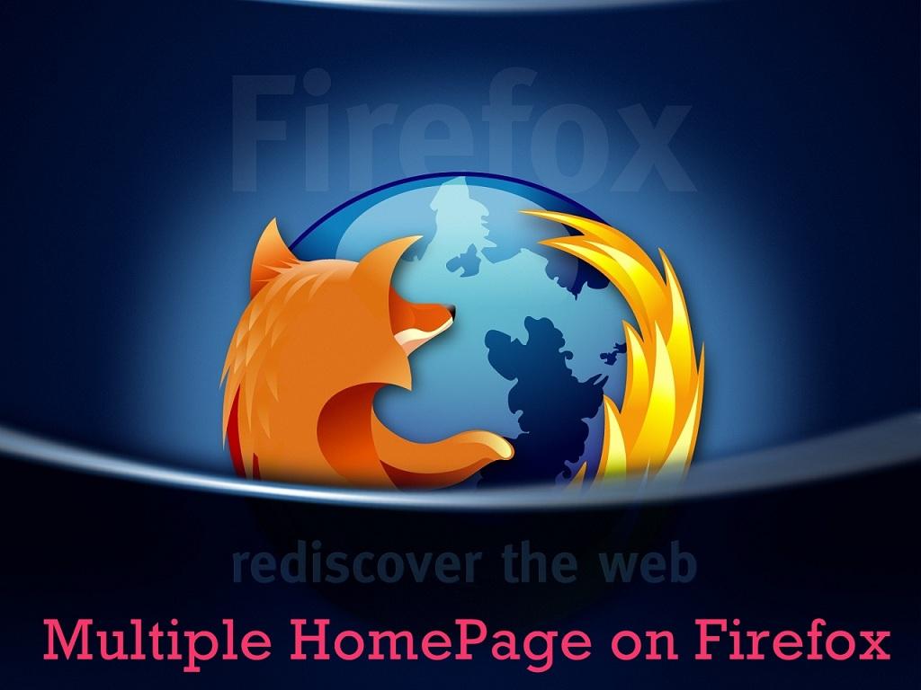 Multiple HomePage - Firefox