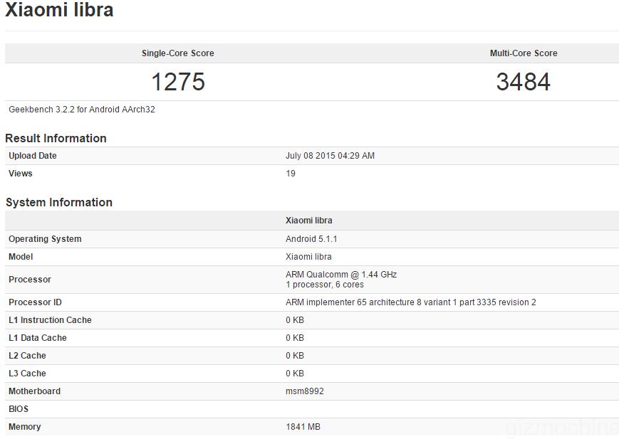Xiaomi Libra