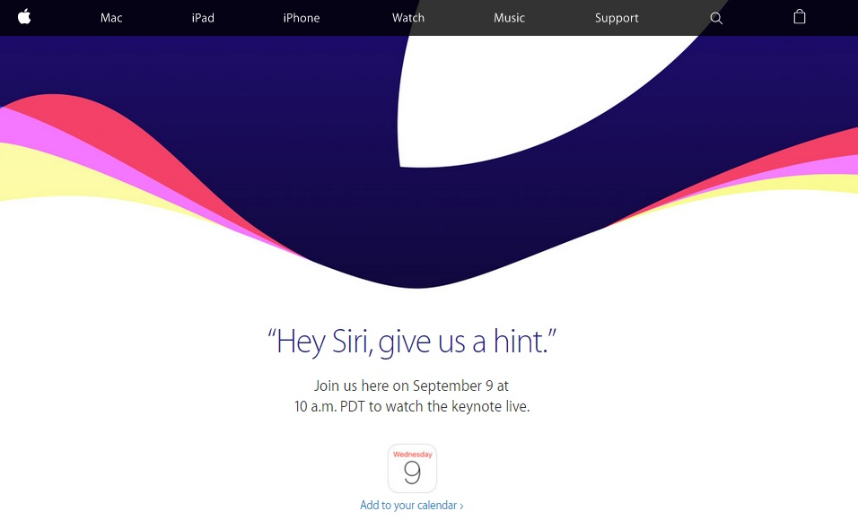 Apple September 2015 Live Streaming
