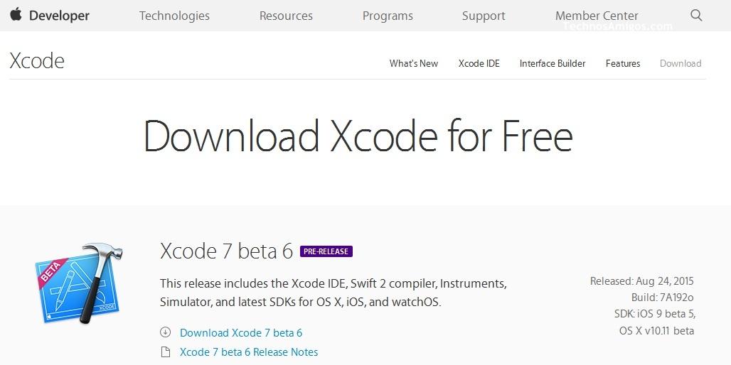 XCode 7 Beta 6