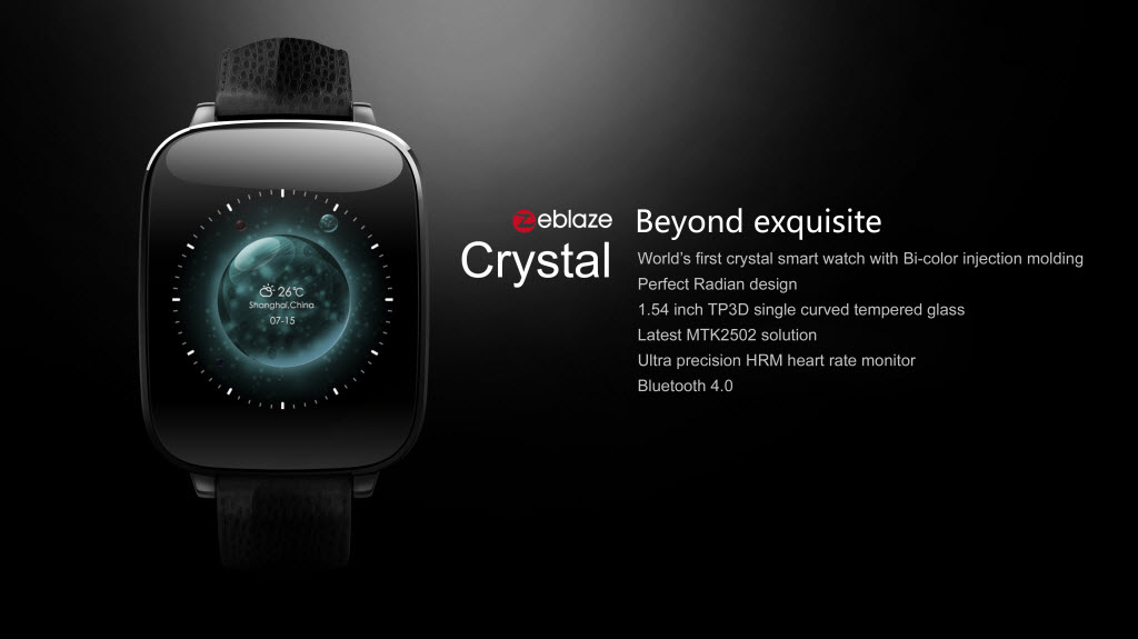 Zeblaze Crystal Smart Watch Front