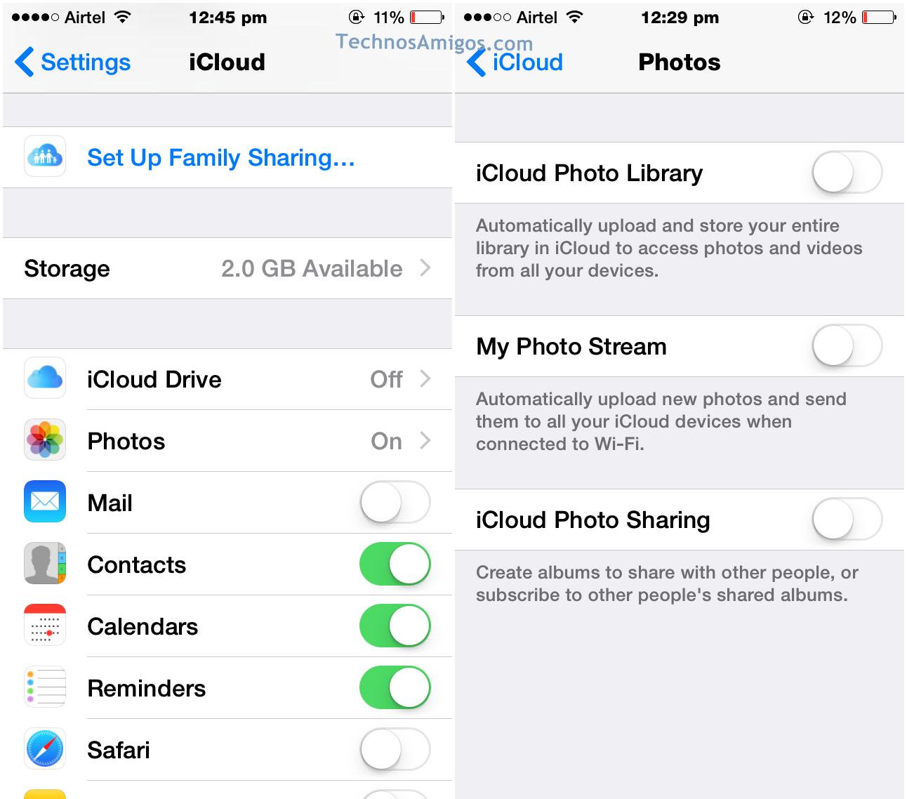 iCloud Photo Backup
